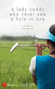 Poster film A Lady Caddy Who Never Saw a Hole in One