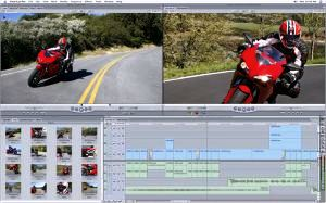 Contoh penyuntingan film di Final Cut Pro Studio